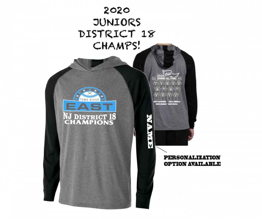 2020 TRELL JUNIORS DISTRICT 18 CHAMPS LIGHTWEIGHT PULL-OVER HOODIE SHIRTS by PACER