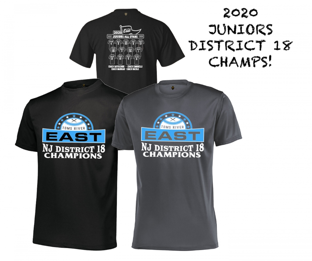 2020 TRELL JUNIORS DISTRICT 18 CHAMPIONSHIP ROSTER TEE by PACER