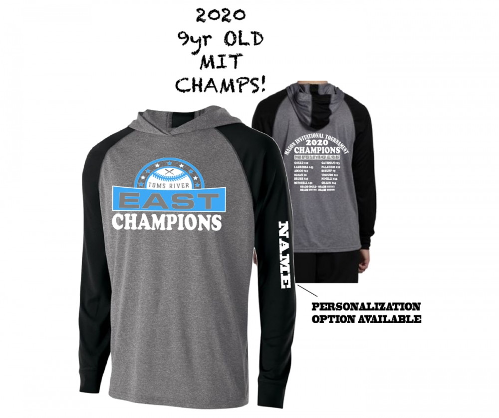 2020 TRELL 9yr OLD MIT CHAMPS LIGHTWEIGHT PULL-OVER HOODIE SHIRTS by PACER