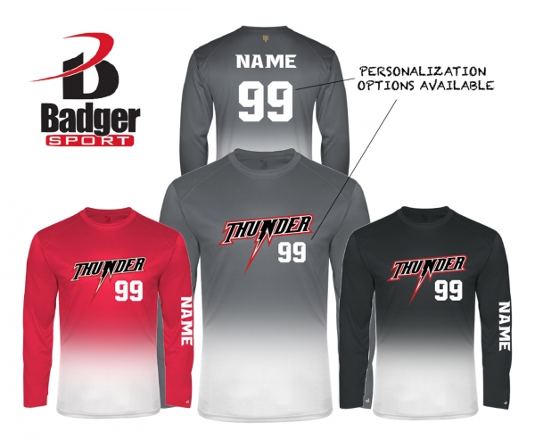 NEW for 2021 SEASON - THUNDER OMBRE FADE PERFORMANCE BP JERSEY by PACER