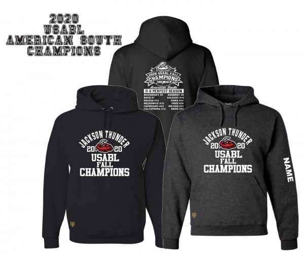 JACKSON THUNDER USABL FALL CHAMPS ROSTER HOODIE by PACER