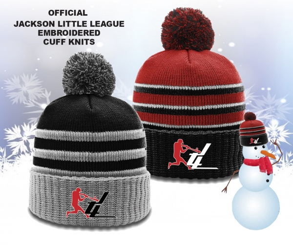 NEW!! JACKSON LITTLE LEAGUE EMBROIDERED CUFF KNITS by PACER