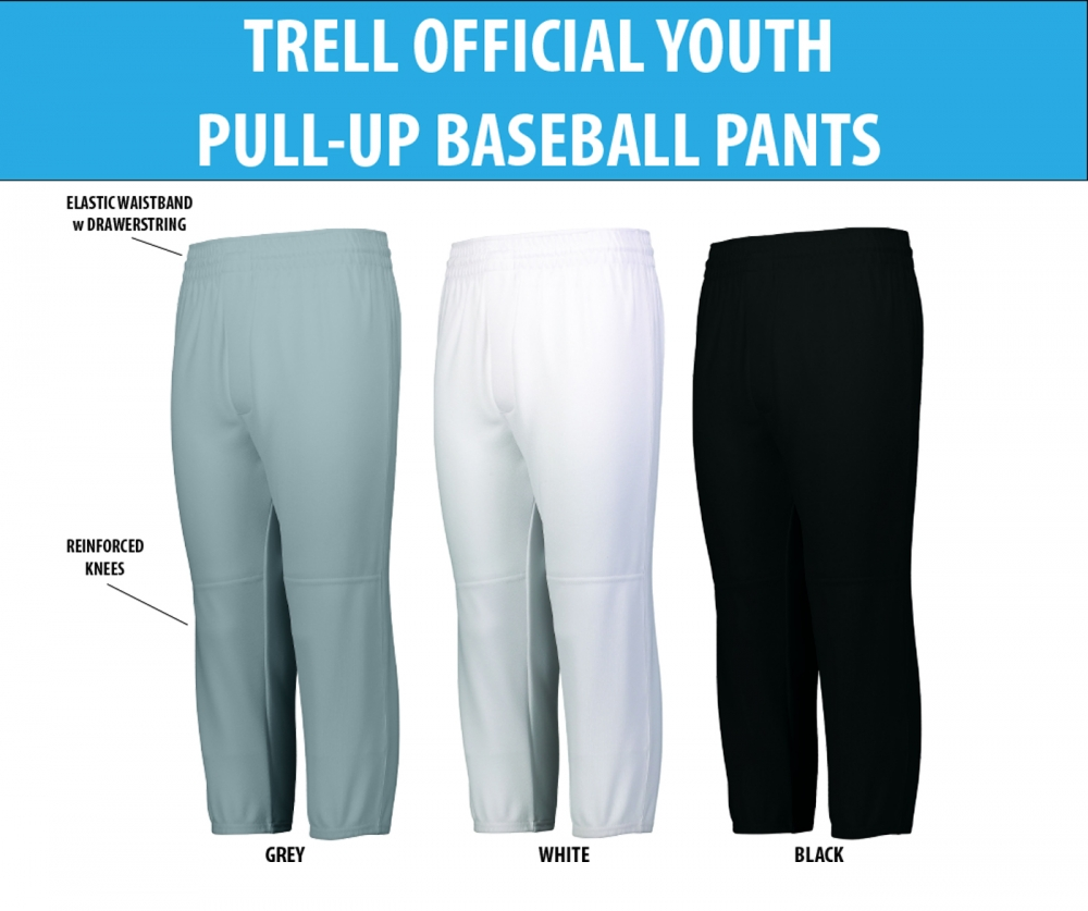 TRELL OFFICIAL ON-FIELD YOUTH PULL-UP PANTS by PACER
