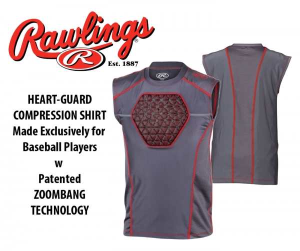 RAWLINGS ZOOMBANG SLEEVELESS HEART-GUARD SHIRT  by PACER