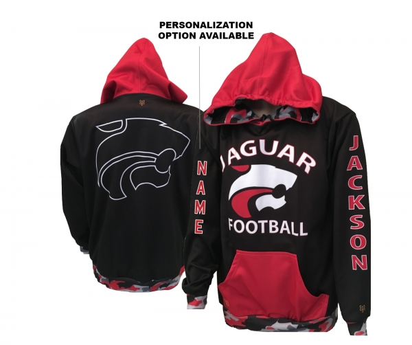 JMHS FOOTBALL SUBLIMATED ALL WEATHER POLY P LIGHTWEIGHT PERFORMANCE HOODIE by PACER