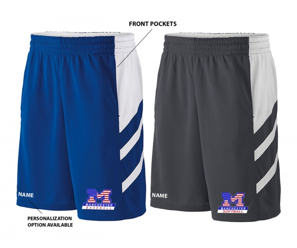 MLL STARS & STRIPES PERFORMANCE TRAINING SHORTS w POCKETS by PACER